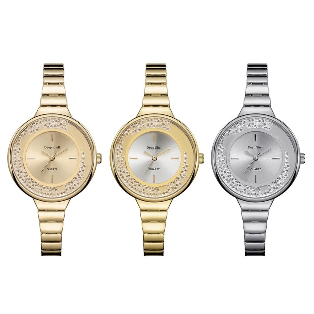 купить 2018 High End Ladies Bracelet Rhinestone Plated Watches Quartz Watches Women Fashion Watch Women's Watches For Women Clock недорого