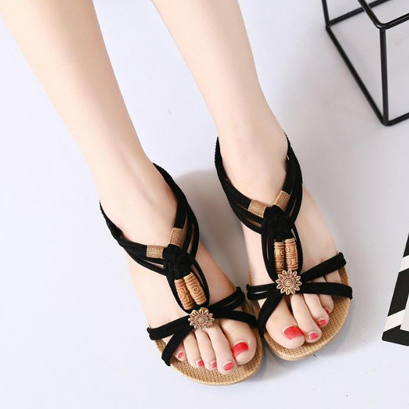 Fashion Footwear Women Bohemia Sandals Gladiator Beach Casual Flat Sandals Leisure Female Ladies Summer Women Shoes DC55 casual bohemia women platform sandals fashion wedge gladiator sexy female sandals boho girls summer women shoes bt574