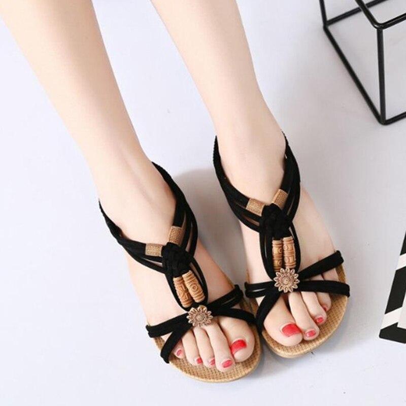 Sommer Frauen Sandalen Böhmen Komfortable Damen Schuhe Strand Gladiator Sandale Frauen Casual Weibliche Flache Sandalen Mode Schuhe Flache Absätze