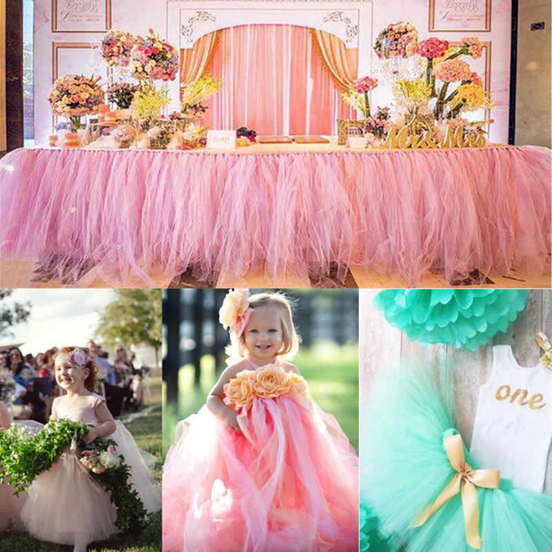 Glitter Tulle Roll 10Yards 15 Cm Tulle Roll Pernikahan Dekorasi Organza DIY Pesta Ulang Tahun Baby Shower perlengkapan