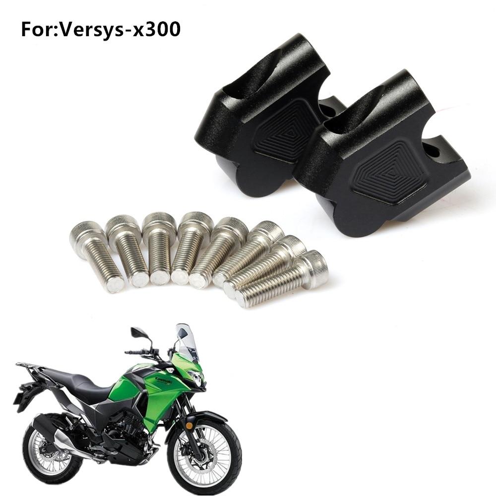 uxcell Motorcycle 30mm CNC Clip-Ons Riser Handlebars 2Pcs
