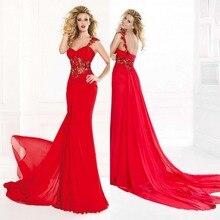 Bodenlangen Kleider Für Prom Kostenloser Versand Mantel Ein Schultergurt Bodenlangen Chiffon Kleid Lange Sleeveless Abend-formales Kleid