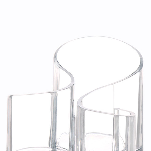 Acrylic Clear 3 Cylindrical Brush Stand Transparent Cosmetic Make Up Holder