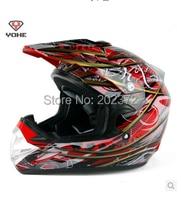 Xe máy mũ bảo hiểm yh-623-b-y1 chuyên nghiệp off-road mũ bảo hiểm vàng đỏ interdiffused YOHE 623 mô tô khá Đầy Đủ mặt mũ bảo hiểm