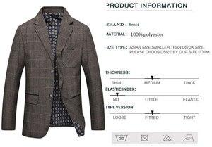 Image 4 - Mwxsd brand Mens Plaid Wool Blazer jacket Men Fashion Slim fit suit  jacket homme Casual male blazer Suit Jacket masculino