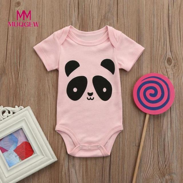 eab7f79fa Cute Newborn Jumpsuit Baby Cartoon Cat Girls Boys Short Sleeve ...