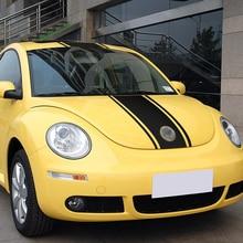 Car Hood Bonnet Roof Rear Stripe Line Sticker Body Decal for Volkswagen Beetle Accessories 2002 2003 2004 2005 2006 Styling