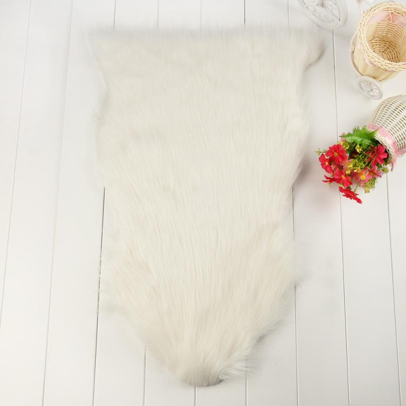 Impartial Soft Rug Chair Cover Artificial Advanced Fibers Warm Hairy Carpet Seat Pad New 40cm*60cm Dec 7 Promoting Health And Curing Diseases Blankets