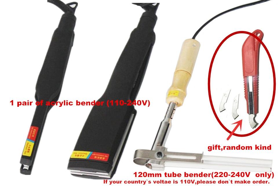 Milda Acrylic Bender Device Channel Letter hot bending machine Arc/Angle Shape Bender Tool 1 pair + 12cm tube bender(220V) недорого