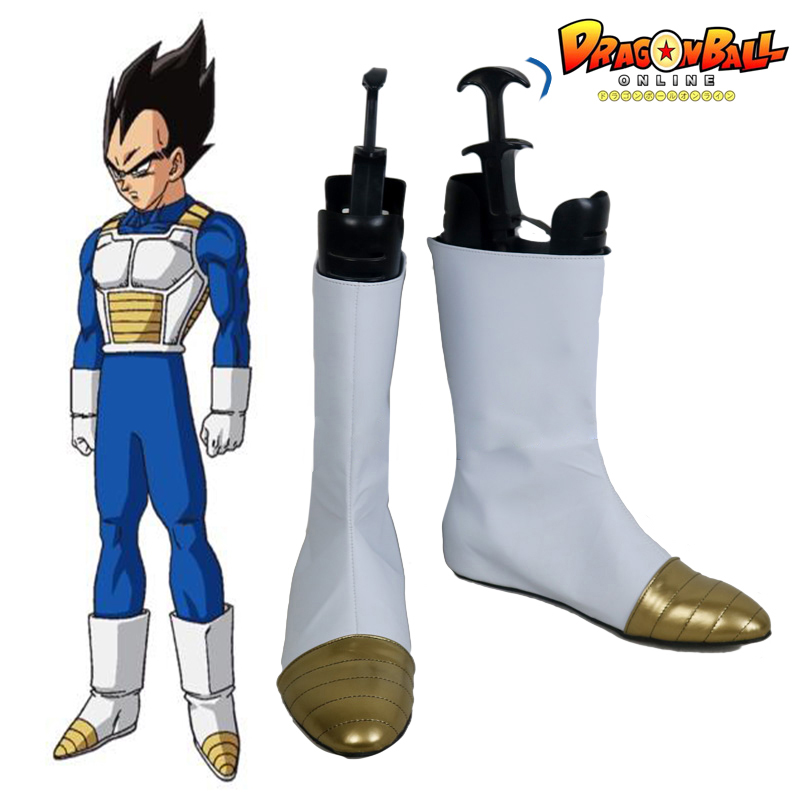 Dragon Ball Z Vegeta Halloween White Long Cosplay Shoes Boots