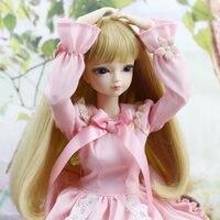 Моносахарид bjd куклы fortune дней 1/4 bjd куклы розовое платье с кружевом одежда обувь парик макияж сочетание 45 см