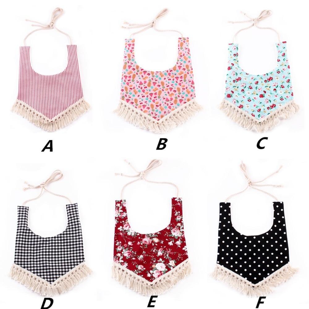 цены Puseky Baby Bibs Waterproof Bohemian Lace Baby Girl Bib Saliva Towel Infant Bib Baby Bandana Bib Tassel Burp Cloth Feeding Apron