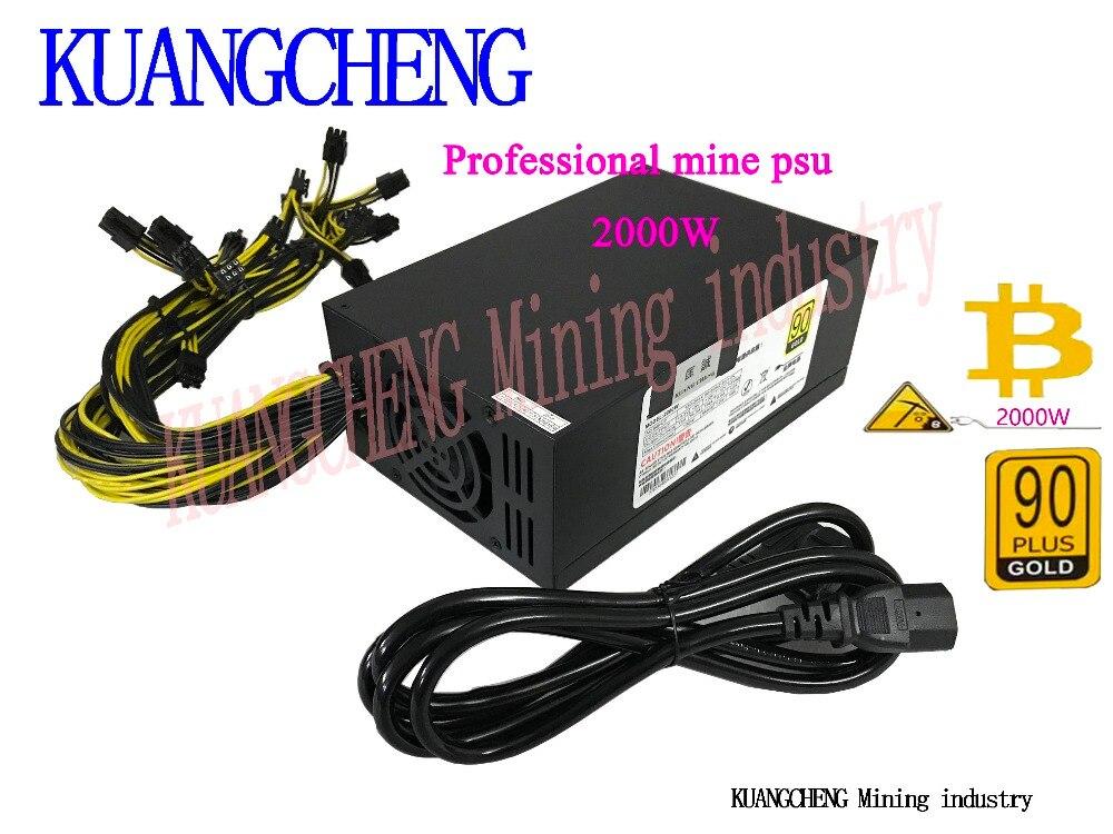 Spot!! S7 S9 L3+ 12V 2000W PSU 6 PCS BTC miner machine server mining board power supply, work at the same time 2 PCS ANTMINER L3 spot supply tm150sa 6