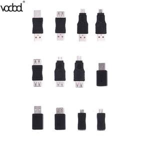 Image 1 - 12 sztuk adaptery USB zestaw 12 w 1 OTG USB2.0 Mix adaptery zestaw OTG F/M mini konwerter adapter męski na żeński adapter micro USB zestaw