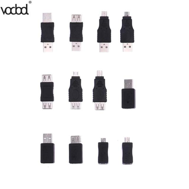 12 sztuk adaptery USB zestaw 12 w 1 OTG USB2.0 Mix adaptery zestaw OTG F/M mini konwerter adapter męski na żeński adapter micro USB zestaw