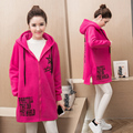 Tidal mother pregnant women autumn and winter coat big yards long section of Thickened loose sweater coat pregnant women