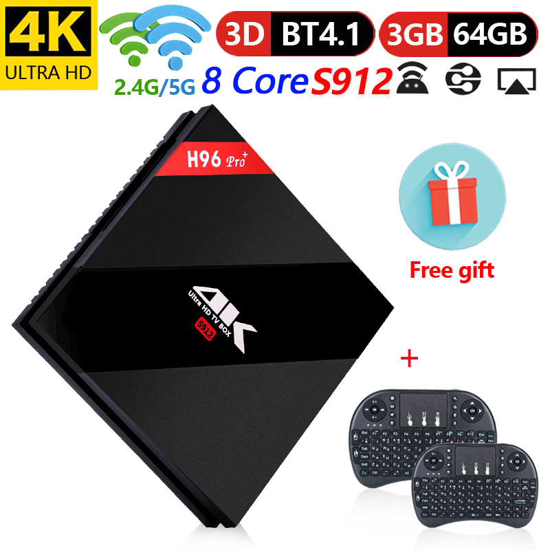 Original H96 Pro Plus TV Box inteligente 3 GB 32GB 64GB Amlogic S912 Octa Core android
