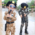 2017 Spring Fall Little Boys Fashion Camouflage Clothing Set Baby Kid Military Uniform Clothes Children's Sport Suit 2 Pcs G751