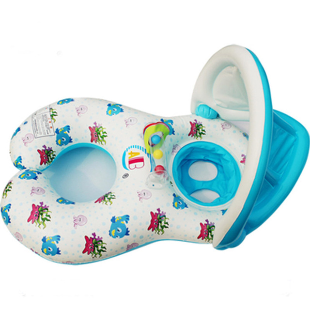b253a13c6ff Parent-child Swim Ring Baby Seat float adult Armpit ring Swimming Laps Baby  Sitting Circle Floating Ring rubber ring