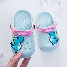 Летняя одежда для маленьких мальчиков и девочек, мюли и сабо Дачная обувь полые детские тапочки с персонажами из мультфильмов детские пляжные сандалии 1#15D50