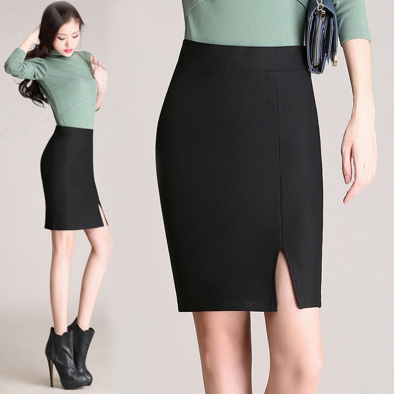 Women Pencil Skirt Tight Skirt Autumn Winter Big Size High Waist ...
