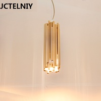 new pendant light brief decorative lighting bar table Golden lamps