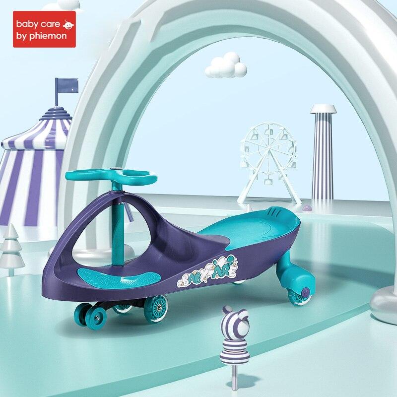 Enfants trois roues Balance voiture Scooter Portable pas de pédale de pied jouets torsion voiture ound universel roue balançoire Tricycle jouet 1-3 ans