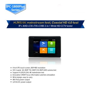 "Image 3 - 8MP wrist 4.0 IP Camera CCTV Tester Monitor 4"" coaxial HD 4K H.265 WIFI hotspot PTZ Control Cable CVI TVI AHD CVBS Camera tester"
