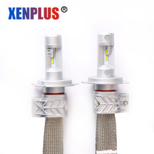 Xenplus Led h4 automobiles Headlight bulbs H7 H8/H9/H11 9006 HB4 9005/HB3 H13 ZES Chip 5S 6500k 8000lm Car High Low Beam light(China)