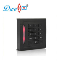 DWE CC RF access control card reader machine EMID RFID black keypad reader with door bell function|access control card reader|access control reader|rf card reader -