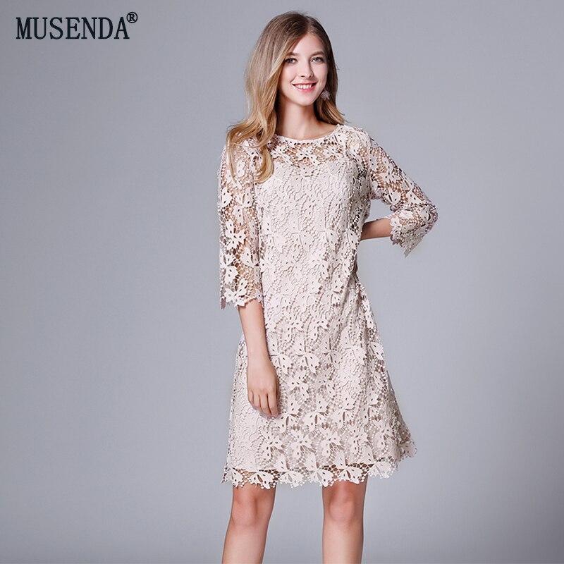 MUSENDA плюс размеры для женщин выдалбливают кружево бабочка миди платье осень 2018 г. пикантные вечерние пляжные наряды Vestido Robe костюмы