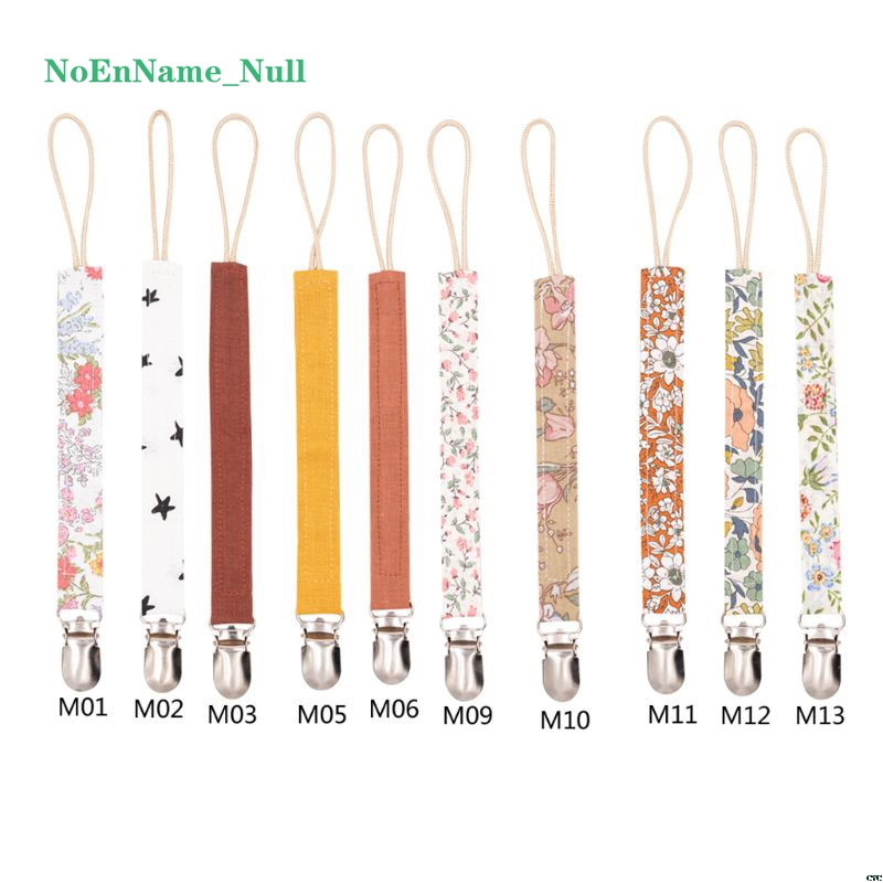 Baby Pacifier Clip Chain Cotton Linen Holder Pacifier Soother Clips Leash Belt Nipple Holder For Infant Feeding