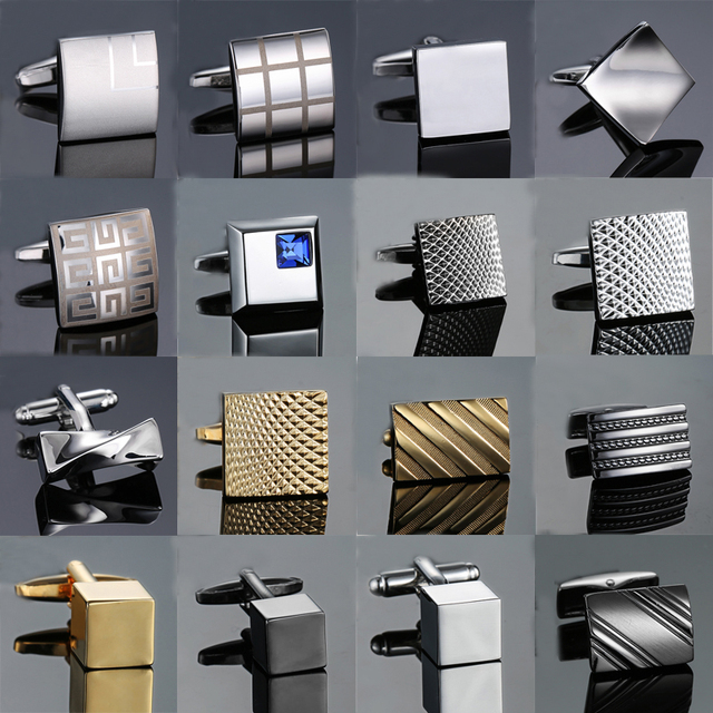 Novelty Cuff Links Stainless Steel Old Craftsman Hand Laser Engraving Cufflinks Mans French Suit Jewellery