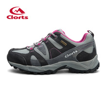 2016 Women Hiking Boots Clorts Leather Breathable Outdoor Hiking Shoes Suede Rubber Waterproof Athletic Sneakers HKL-828