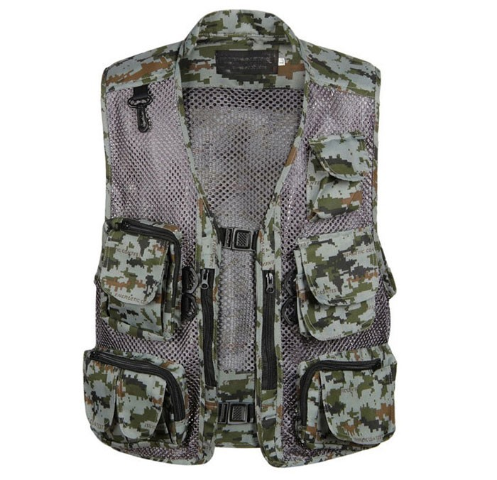 Men Camping Hunting Fishing Camouflage Jungle Denim Vest Outdoor 2016 new Military Veste Homme Waistcoat Men Colete S528TT