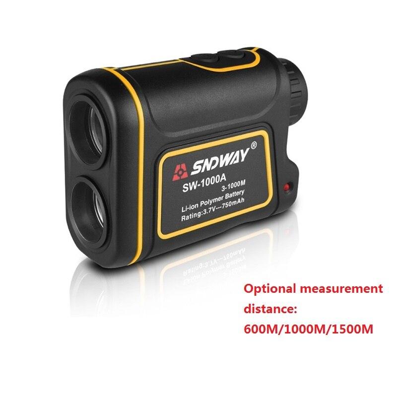 Telescópio telêmetro A Laser Rangefinders Medidor de Distância Digital de 600/1500 M Caça Monocular Golf Laser Range Finder Fita Métrica