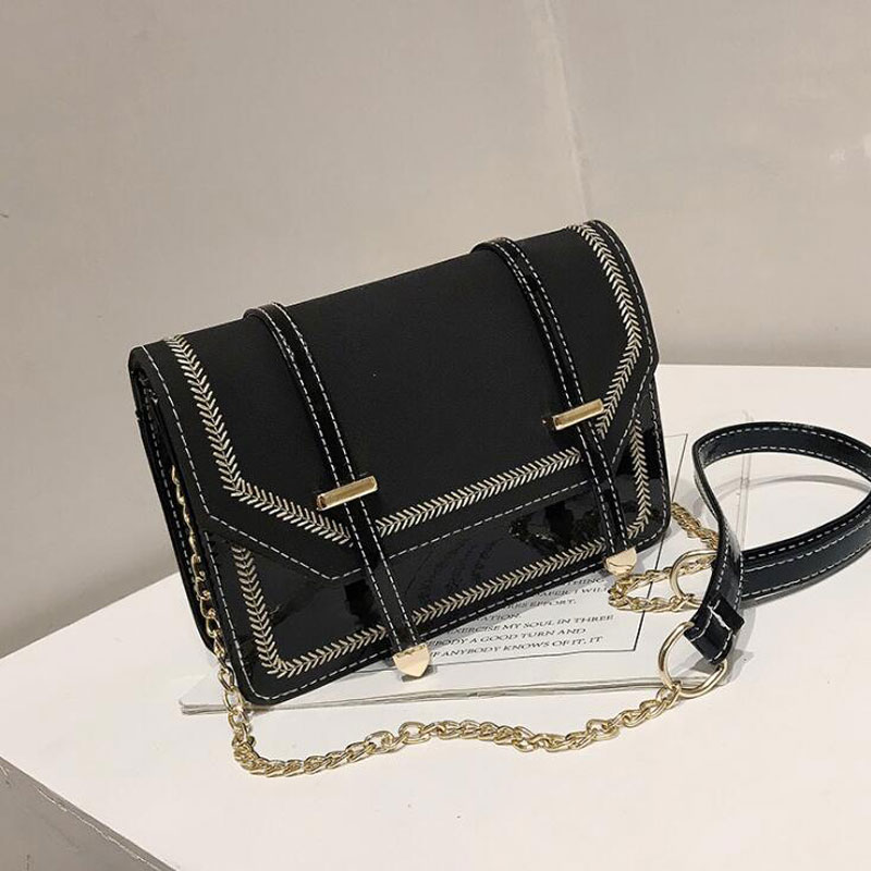 REPRCLA Fashion Chain Strap Women Bag Handbag Designer Shoulder Bag PU Leather Crossbody Bags for Women Messenger Bags Purse in Shoulder Bags from Luggage Bags