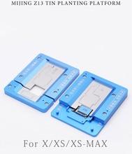 MJ Z13 материнская плата телефона испытательный станок Fixure для iphone X XS MAX BGA реболлинг трафарет на платформе материнская плата, пайка ручной инструмент