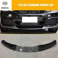 F15 X5 Carbon Fiber Front Bumper Lip Spoiler for BMW F15 X5 M tech M sport Bumper 2014 UP