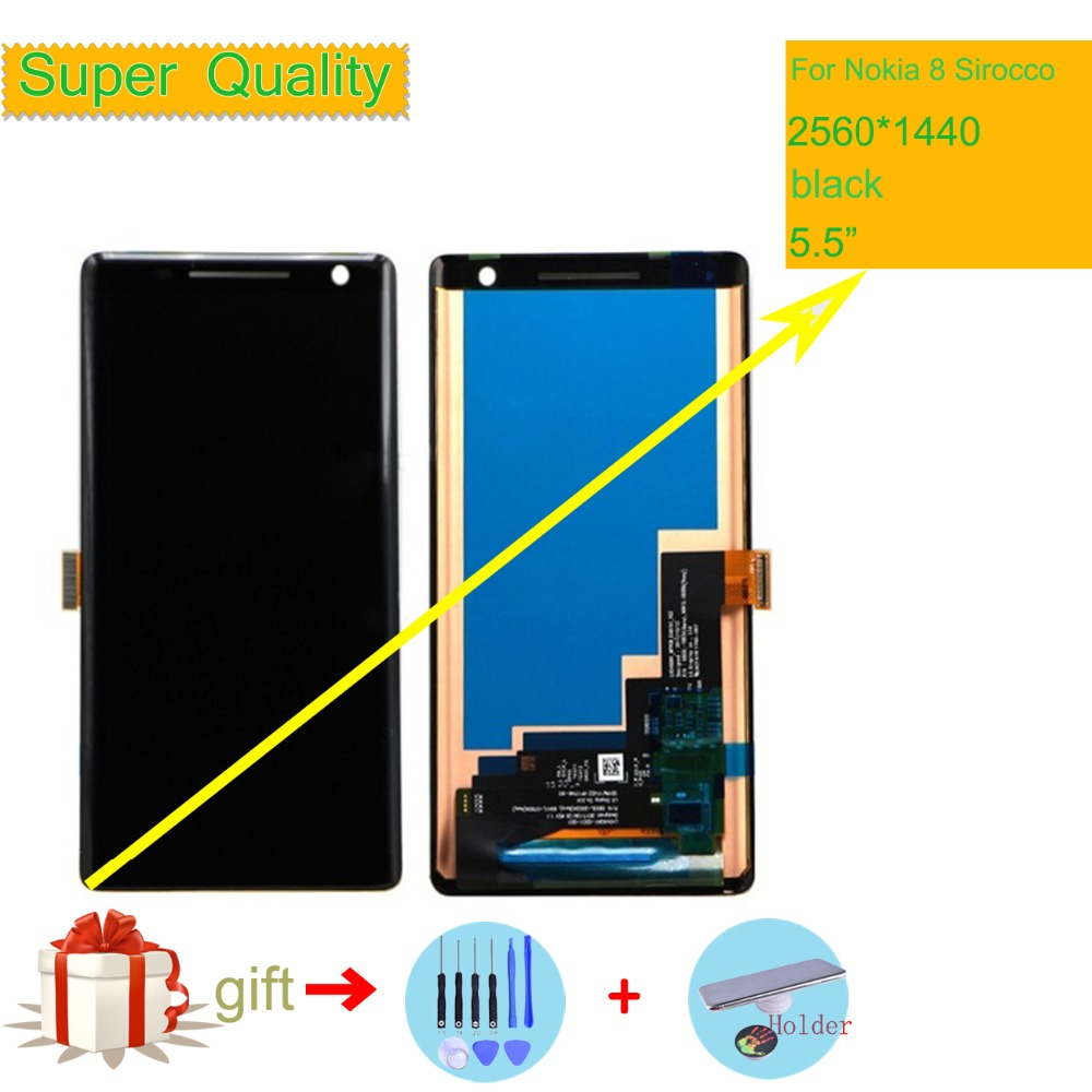 ORIGINAL 5.5 For Nokia 8 Sirocco LCD Display Screen with Touch Screen Digitizer Assembly For Nokia Nokia 8 Sirocco lcd screenORIGINAL 5.5 For Nokia 8 Sirocco LCD Display Screen with Touch Screen Digitizer Assembly For Nokia Nokia 8 Sirocco lcd screen