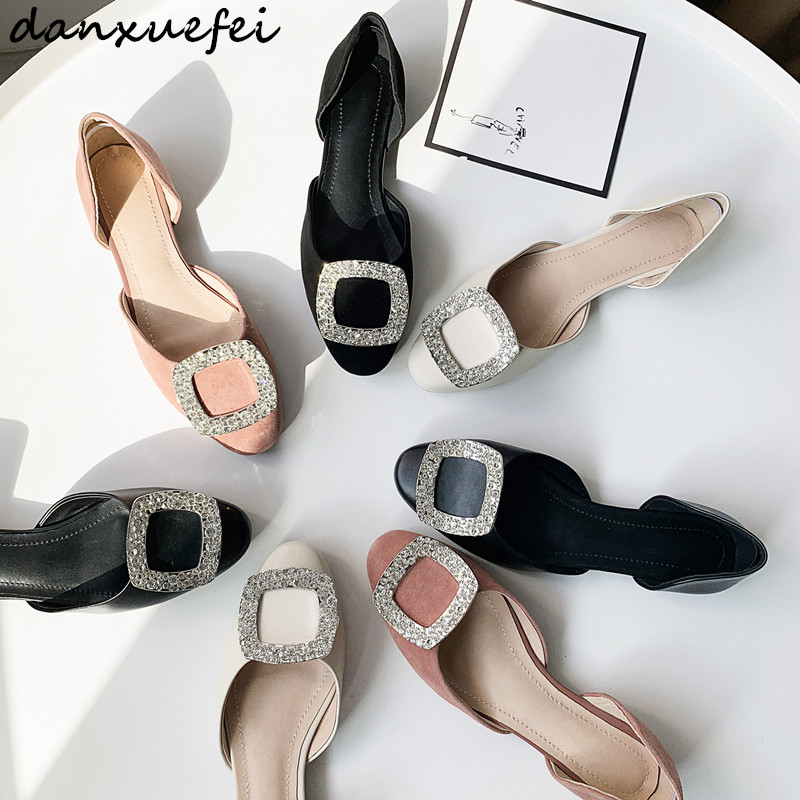 Chaussures Leather Marque on Femmes Sandales Slip Espadrilles Beige De Loisirs Appartements Sude Leather Haute Suede Cuir Soft Leather Boucle Qualité Vente Strass Designer black pink Genuie WxxZn0B