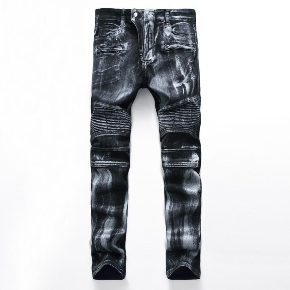 European American Style famous brand men jeans luxury Men's denim trousers Slim Straight pop blue gentleman zipper jeans pants цены онлайн