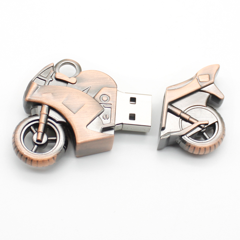 usb flash Pen Drives Metal Cool Motorcycles USB Flash Drive 32GB 16GB 8GB 4GB U Disk USB STICK with chain