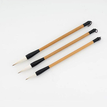 3 pieces Chinese calligraphy brush pen wool and wolf hair writing brushes Large Medium Small sets for drawing