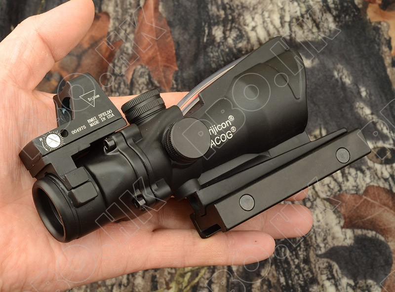 Tactical style 4x32 Rifle scope and Red Dot sight (Red optics Fiber) RBO  M6216 цены онлайн