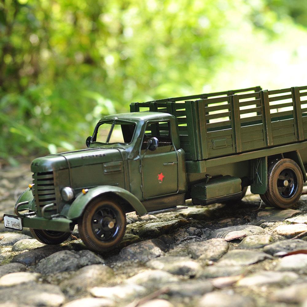 Le vieux camion échelle modèle de voiture Ameublement rétro nostalgie décoration décoration salon bureau décoration douce