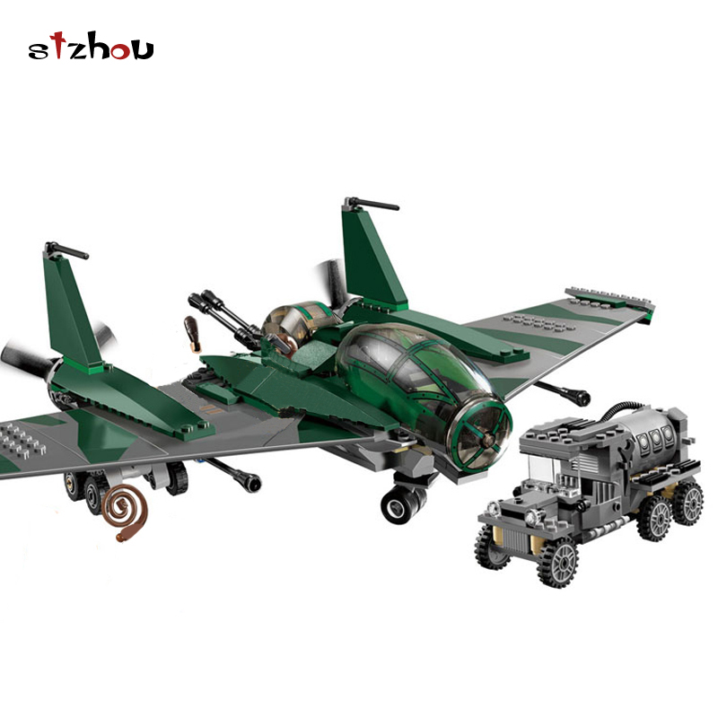 Stzhou 31002 Indiana Jones Fighter on the Flying Wing Plane Model 7683 Building Block Toys For Children Christmas Gifts Legoing hot nuevo 10415 elfos azari aira naida emily jones cielo fortaleza castillo building block toys