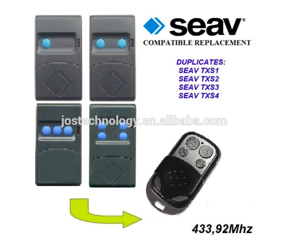 For SEAV txs1,txs2,txs3,txs4 compatible remote control replacement 433,92mhz free shipping