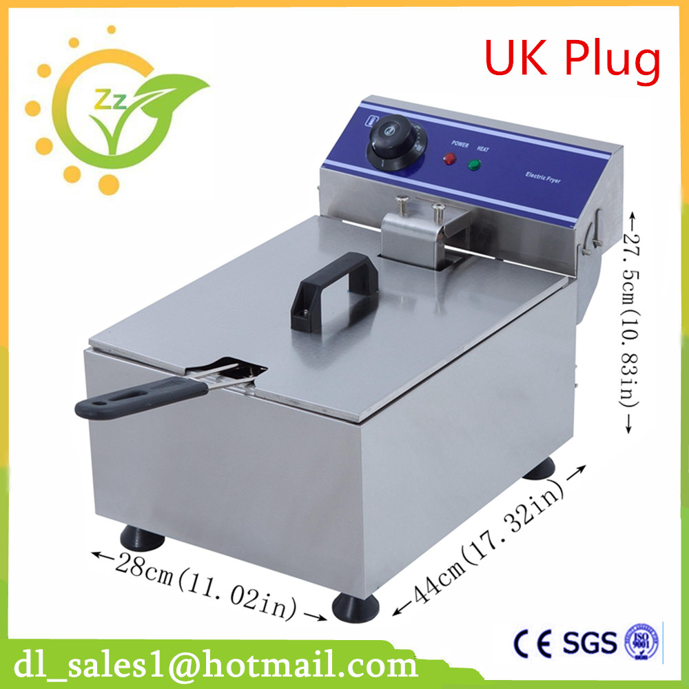 Home Use Electric Deep Fryer Multifunctional Household Commercial Stainless Steel Grill Frying Pan French Fries Machine 220v electric deep fryer 8l commercial air fryer potato chip french fries chicken fryer
