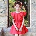 Vestidos de las muchachas del Algodón de Los Niños Vestidos Para Niñas Niños Ropa de Verano 2017 Partido de la princesa Vestidos de novia 2 3 5 7 9 11 13 14 años